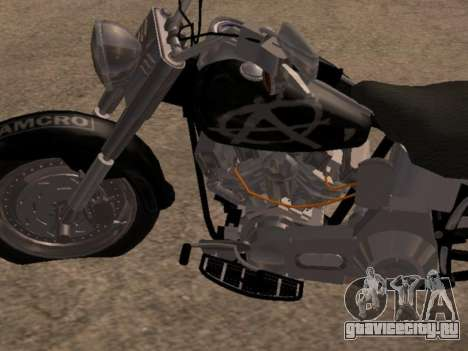 Harley Davidson Fat Boy Sons Of Anarchy для GTA San Andreas вид слева