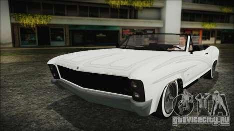 GTA 5 Albany Buccaneer Hydra Version для GTA San Andreas вид сзади