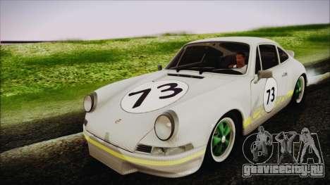 Porsche 911 Carrera RS 2.7 (901) 1973 для GTA San Andreas вид изнутри