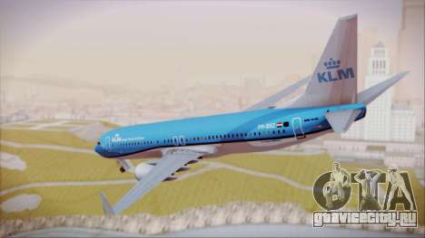 Boeing 737-800 KLM Royal Dutch Airlines для GTA San Andreas вид слева