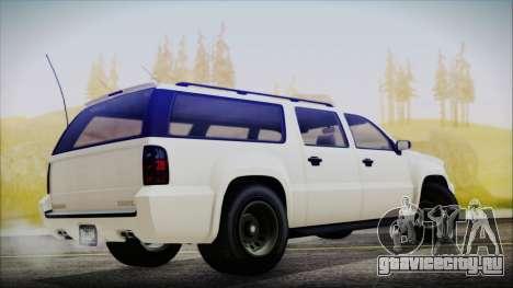 GTA 5 Declasse Granger FIB SUV для GTA San Andreas вид сзади слева