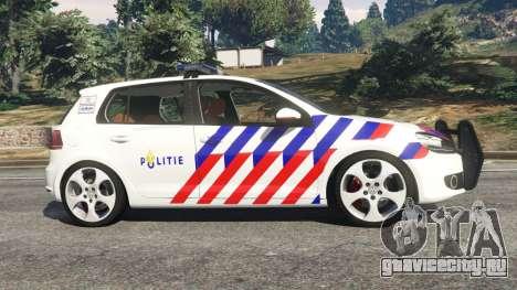 Volkswagen Golf Mk6 Dutch Police для GTA 5