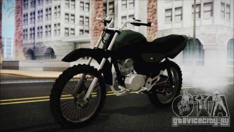 Zanella RX150 Cross для GTA San Andreas вид сзади