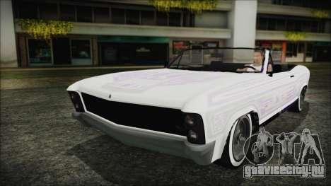 GTA 5 Albany Buccaneer Hydra Version для GTA San Andreas вид изнутри
