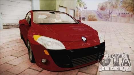 Renault Megane 3 для GTA San Andreas вид сзади слева