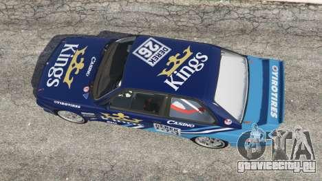 BMW M3 (E30) 1991 [Kings] v1.2 для GTA 5 вид сзади