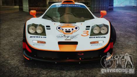 McLaren F1 GTR 1998 для GTA San Andreas вид снизу