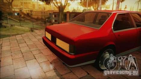 Sentinel PFR HD v1.0 для GTA San Andreas вид сзади