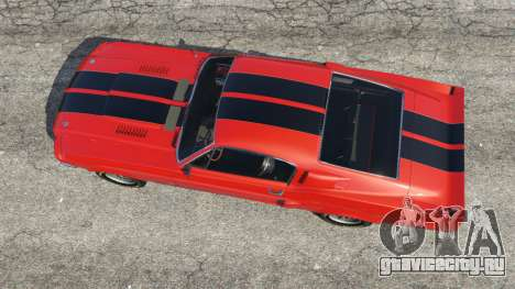 Shelby Mustang GT500 1967 [LowRiders] для GTA 5 вид сзади