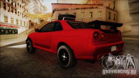 Nissan Skyline R34 Offroad Spec для GTA San Andreas вид слева