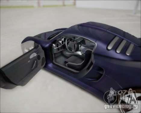 Ruf CTR 3 2015 для GTA San Andreas вид справа