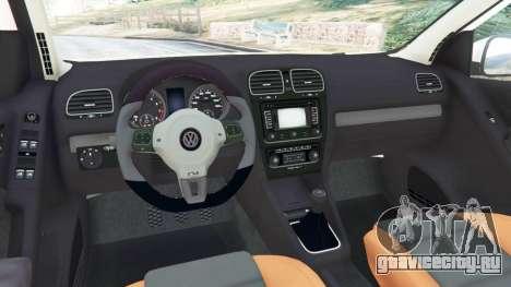Volkswagen Golf Mk6 v2.0 [ABT] для GTA 5 вид сзади справа