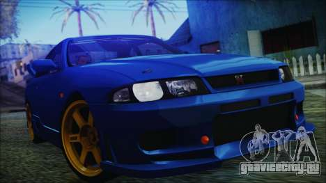Nissan Skyline R33 Kantai Collection Kongou PJ для GTA San Andreas вид справа