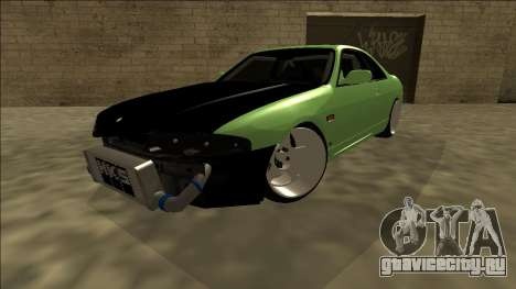 Nissan Skyline R33 Drift для GTA San Andreas вид сзади слева