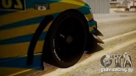 Mitsubishi Lancer Evolution Pushkar для GTA San Andreas вид сзади слева