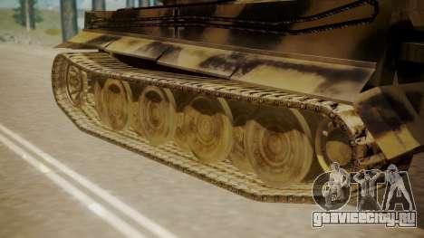Panzerkampfwagen VI Tiger Ausf. H1 для GTA San Andreas вид сзади слева