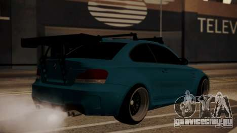 BMW 1M E82 with Sunroof для GTA San Andreas вид слева