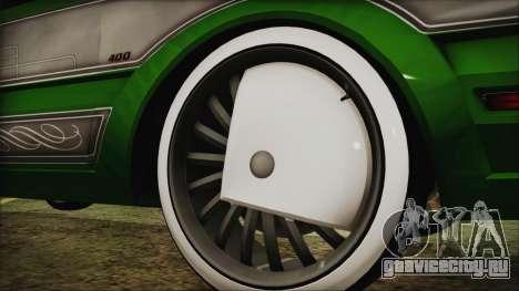 GTA 5 Faction LowRider DLC для GTA San Andreas вид сзади слева