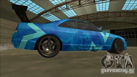 Nissan Skyline R33 Drift Blue Star для GTA San Andreas вид справа