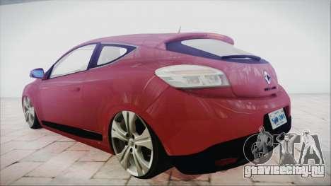 Renault Megane 3 для GTA San Andreas вид слева