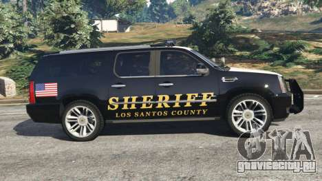 Cadillac Escalade ESV 2012 Police для GTA 5 вид слева