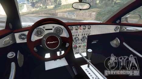 Spyker C8 Aileron для GTA 5 вид сзади справа