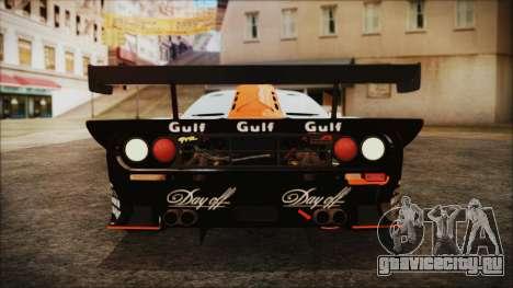 McLaren F1 GTR 1998 для GTA San Andreas вид изнутри
