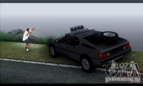 BMW M1 E26 Rusty Rebel для GTA San Andreas вид изнутри