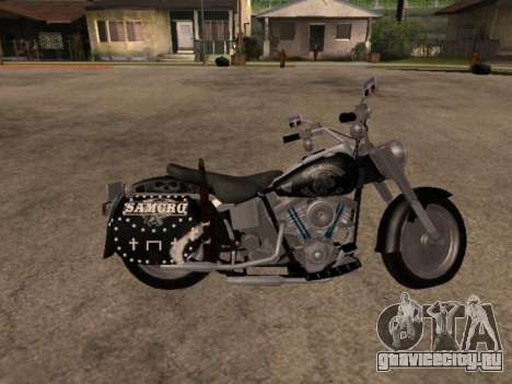 Harley Davidson Fat Boy Sons Of Anarchy для GTA San Andreas