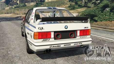 BMW M3 (E30) 1991 [Nalan] v1.2 для GTA 5 вид сзади слева