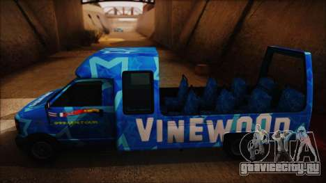 Vinewood VIP Star Tour Bus (Fixed) для GTA San Andreas вид сзади слева