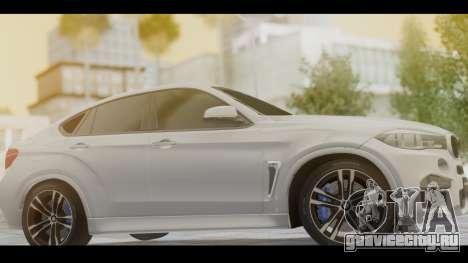 BMW X6M F86 v2.0 для GTA San Andreas вид сзади слева