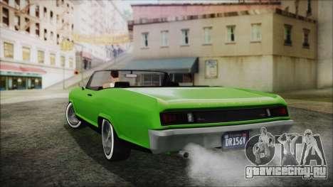 GTA 5 Albany Buccaneer Hydra Version IVF для GTA San Andreas вид слева