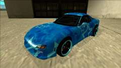 Mazda RX-7 Drift Blue Star для GTA San Andreas