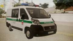 Fiat Ducato Lithuanian Police для GTA San Andreas