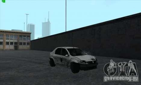 Renault Logan для GTA San Andreas вид снизу