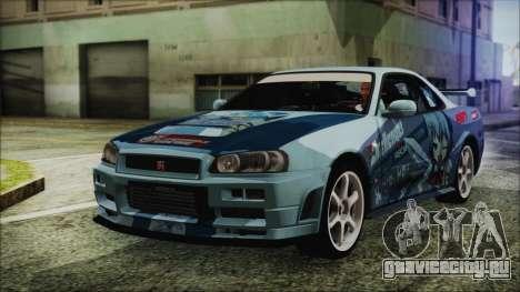 Nissan Skyline R34 Itasha для GTA San Andreas