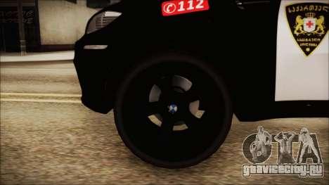 BMW X6 Georgia Police для GTA San Andreas вид сзади слева