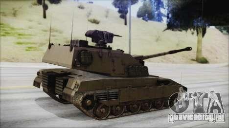 M4 Scorcher Self Propelled Artillery для GTA San Andreas вид слева