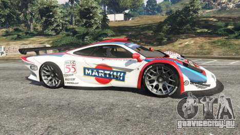 McLaren F1 GTR Longtail [Martini Racing] для GTA 5 вид слева