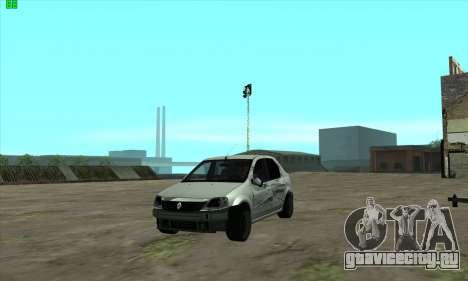 Renault Logan для GTA San Andreas вид сверху