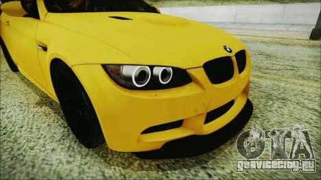 BMW M3 GTS 2011 IVF для GTA San Andreas вид изнутри