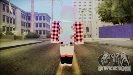 Minecraft Female Skin Edited для GTA San Andreas третий скриншот