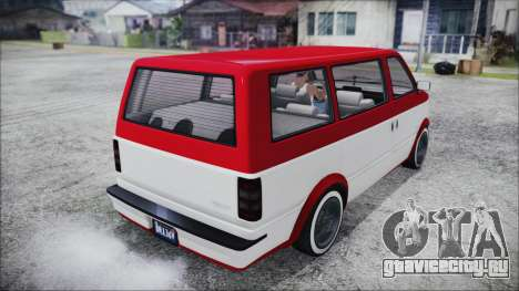 GTA 5 Declasse Moonbeam Bobble Version IVF для GTA San Andreas вид сзади слева