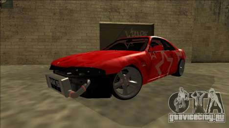 Nissan Skyline R33 Drift Red Star для GTA San Andreas вид сбоку