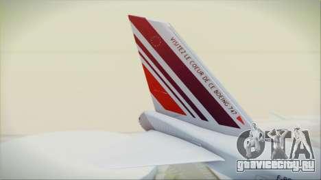 Boeing 747-128B Air France для GTA San Andreas вид сзади слева