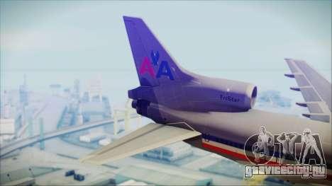 Lockheed L-1011 Tristar American Airlines для GTA San Andreas вид сзади слева