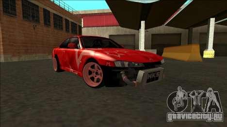 Nissan Silvia S14 Drift Red Star для GTA San Andreas вид сверху