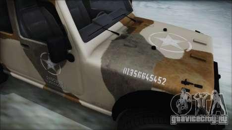 GTA 5 Canis Crusader IVF для GTA San Andreas вид сзади слева