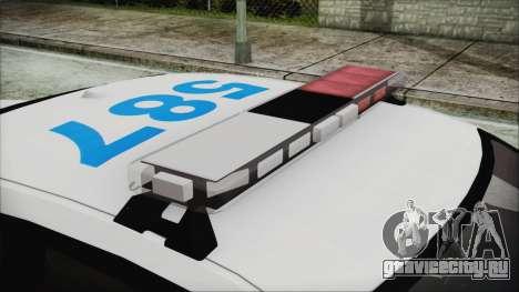 Dodge Charger SRT8 2012 Iraqi Police для GTA San Andreas вид сзади